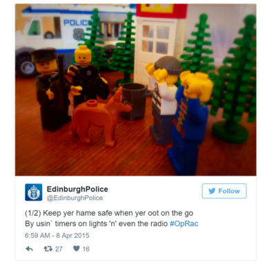 police silly tweet