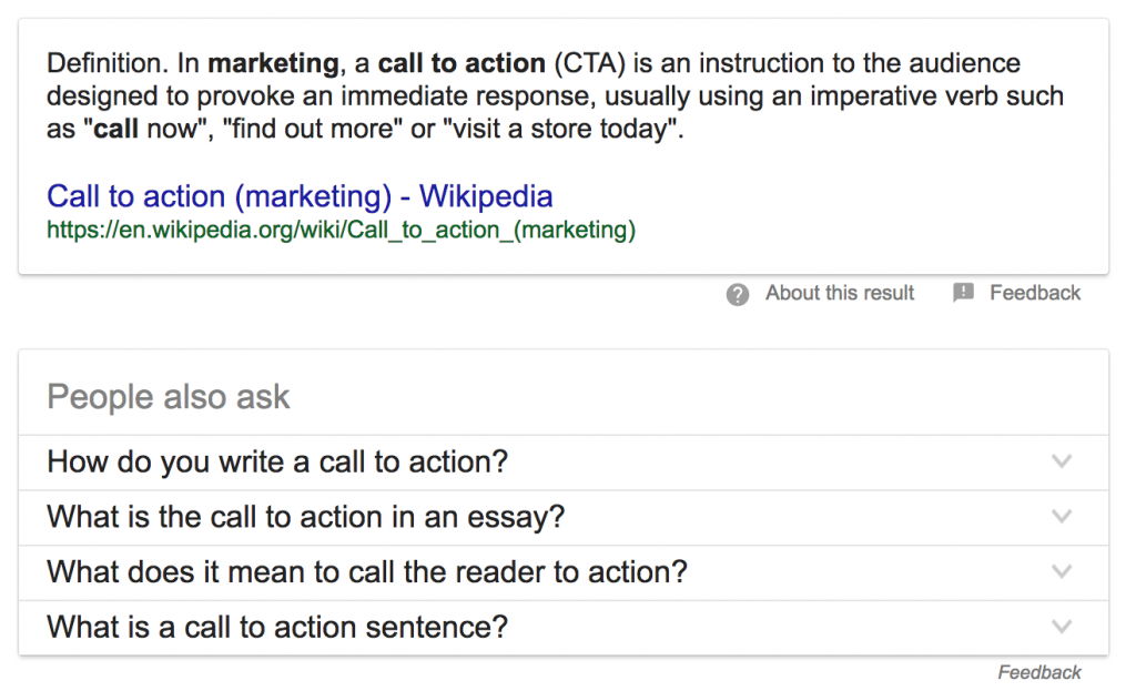 what is call to action marketing