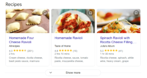 Rich Snippets Listings